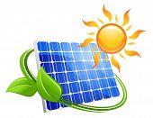 Solar energy eco concept