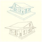 Country Cottage Style 3 D In Different Angle