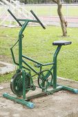 Exercise Bicycle In Park