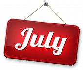 July summer month of the year  or event schedule or agenda