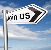 Join us here and now banner or registration for membership  or sign. Do it today and become a member.