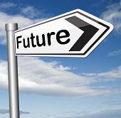 bright future ahead planning a happy future having a good plan with text and word concept science fiction prediction