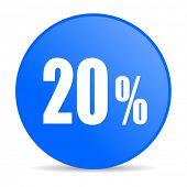 20 percent internet blue icon