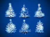 Hand-drawn vector christmas trees