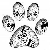 Pet Paw With Pet Texture