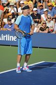 Seven times Grand Slam champion John McEnroe during US Open 2014 champions exhibition match
