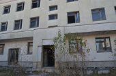 Kiev region,Ukraine.Sept 12.Near Chernobyl area. Modern ruins.Abandoned construction site.At September 12,2014 in Kiev region, Ukraine