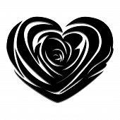 Vector Rose Heart