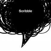 Scribble black background