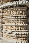hinduism ranakpur temple fragment in rajasthan india