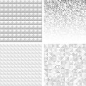 Set of Abstract Gray Geometric Backgrounds