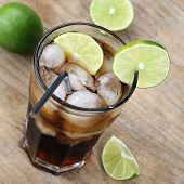 Cold Cola Drink With Limes