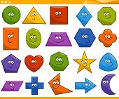 picture of octagon shape  - Cartoon Illustration of Basic Geometric Shapes Funny Characters for Children Education - JPG
