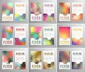 Set Of Abstract Flyer Template With Place For Text.