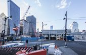 NEW YORK, USA -January 9: view of buildings and construction work on Ground Zero,rebuilding the site
