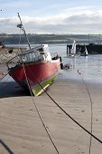 Fishing Boats Anchored In Youghal Bay