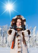 Near Snowy Trees Outdoor Season Fashion