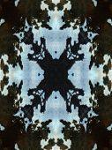 Dark Kaleidoscope Cow Hide Pattern