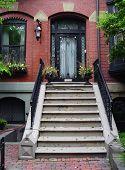 Entrada de casas de Boston