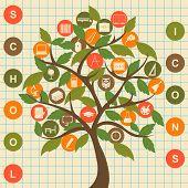 School Icons Tree