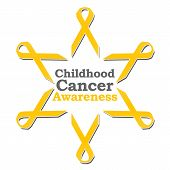 Childhood Cancer Awareness Ribbon Circle