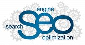 SEO Logotype With Gears
