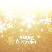 Golden Christmas Snowflakes Blurred Background, vector