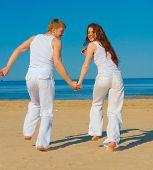 Sea Romance Man and woman
