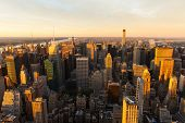 beautiful view of NYC at sunset
