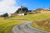 picture of apennines  - The village Bardi and its castle Emilia - JPG