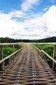 The straight old wooden bridge