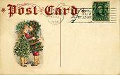 vintage postcard christmas 1904