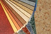 pic of linoleum  - The samples of collection a natural linoleum - JPG