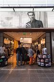 Travellers Shopping At Hugo Boss