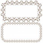 Vector Set Of Rectangular Beautiful Frames