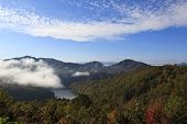 Fog on Fontana Lake in North Carolina