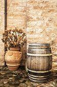 Barrel And Vase