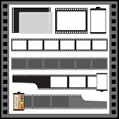 Постер, плакат: vector film strip