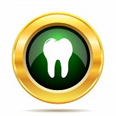 picture of gold tooth  - Tooth icon - JPG