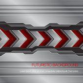 Vector futuristic metallic background