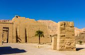 View Of The Mortuary Temple Of Ramses Iii Near Luxor In Egypt