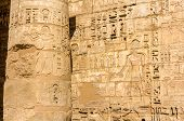 Ancient Carvings In The Mortuary Temple Of Ramses Iii. Near Luxor - Egypt