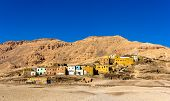 Egyptian Village In The Desert Near Luxor