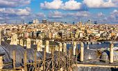 View Of Istanbul City Center From The Sueymaniye Mosque - Turkey
