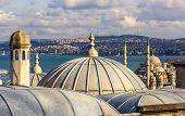 Vew Of Istanbul From The Sueymaniye Mosque - Turkey