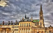 View Of Saint Epvre Basilica In Nancy At Night - France, Lorraine