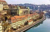 Riverside Of Bern In Switzerland