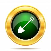 stock photo of shovel  - Shovel icon - JPG