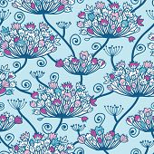 Spring Flowers Seamless Pattern Background