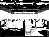 Interior Office Rooms Vector ...